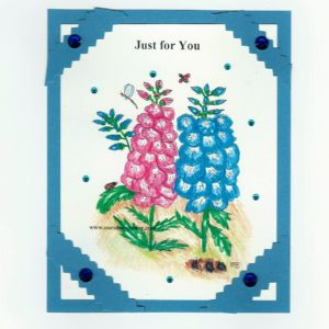 Online Greeting card no FLC55 Just for you